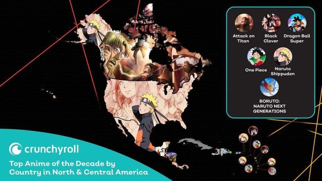 animes mais vistos da década na america do norte e central