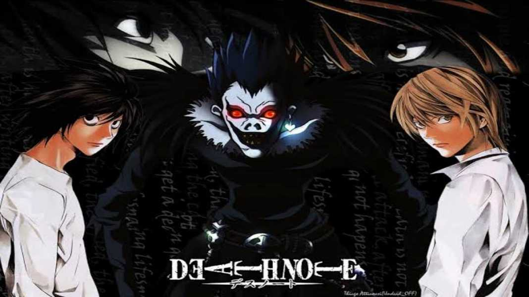 Trio no centro da história do anime e mangá Death Note