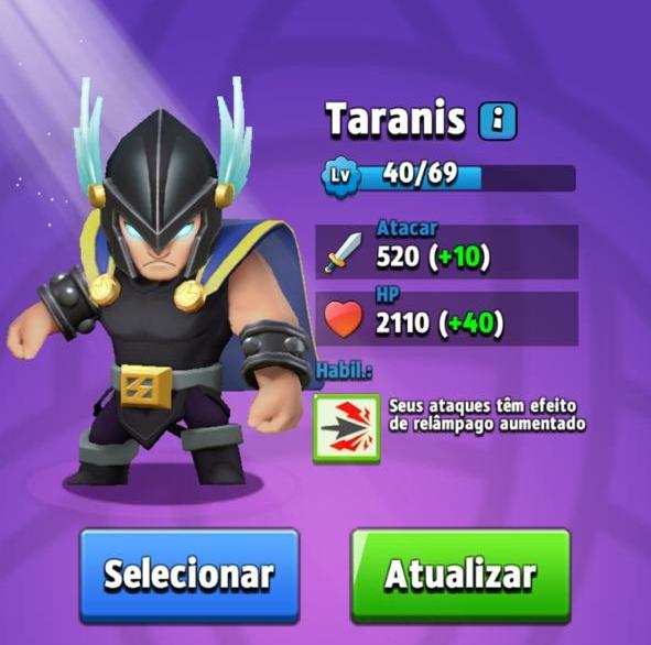 Melhores Heróis de Archero - Taranis