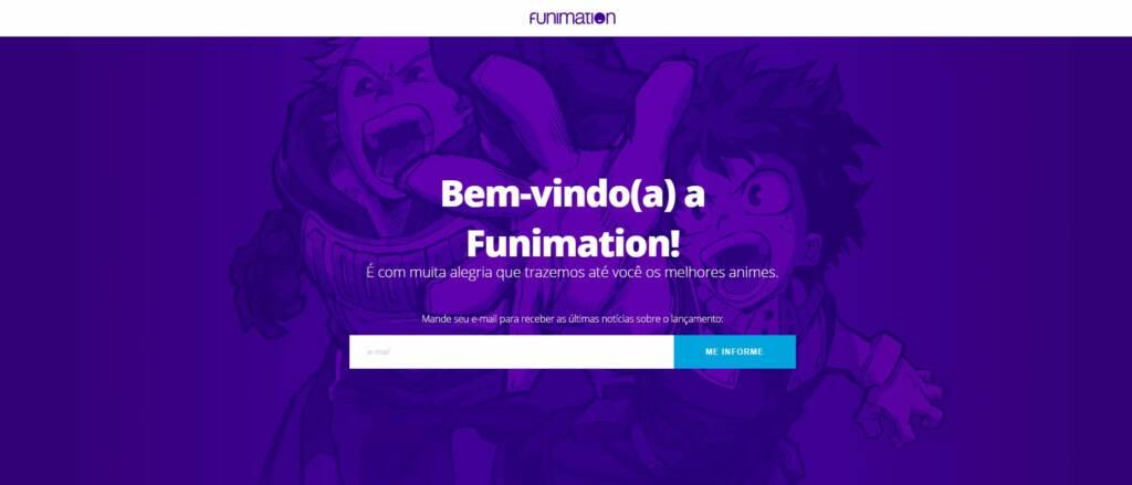 Assinatura para noticias da Funimation Brasil pelo E-mail