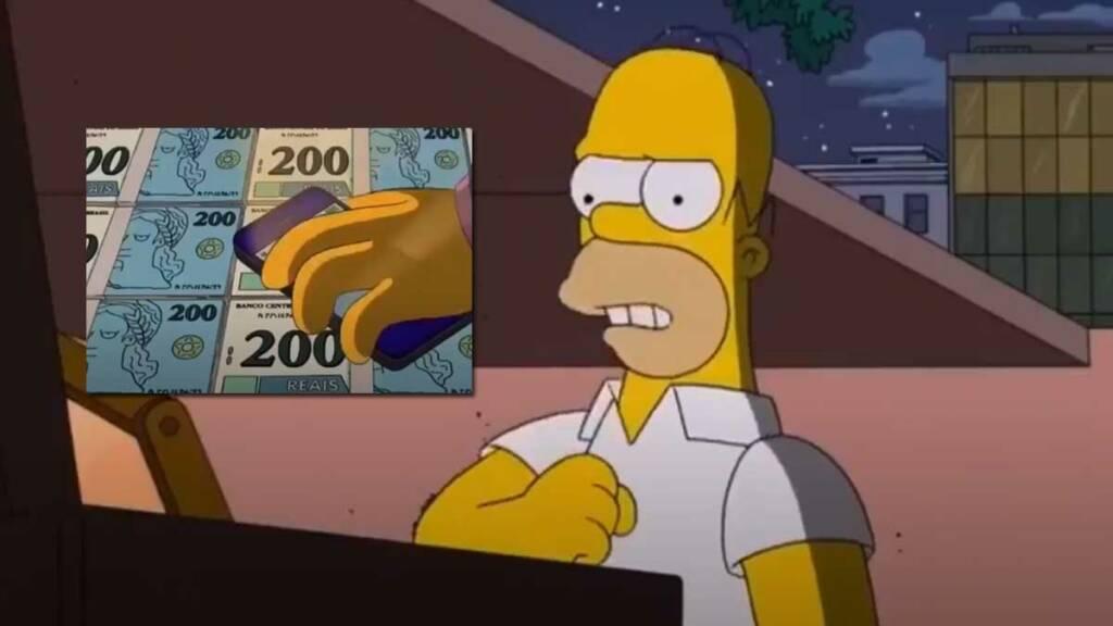 Nota de R$200,00 Os Simpsons